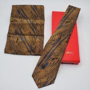 Brioni Italian Silk Neck Tie & Pocket Sq Set